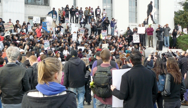 Photo of December 13 rally in Oakland not available