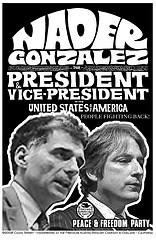 a retro poster of nader and gonzalez