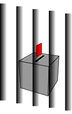 image of bars and ballot box