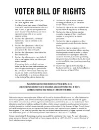 image of the voters bill of rights flyer