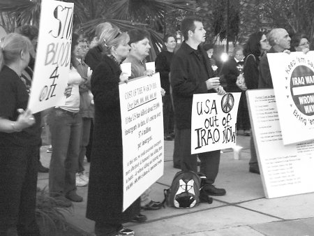 Antiwar Vigil in Riverside, California